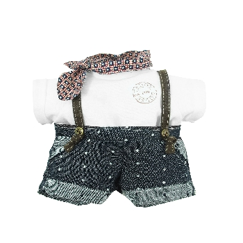 Boys Dungarees + Scarf