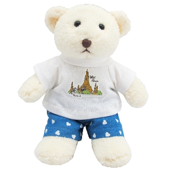 Teddy bear with Wat Arun