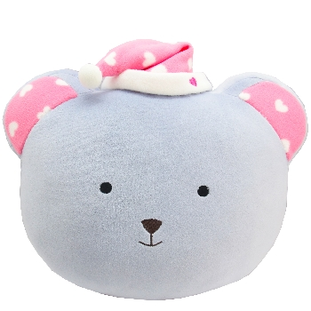 Teddy face cushion